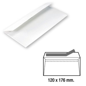 Comprar Caja 500 sobres comercial 120X176mm blanco