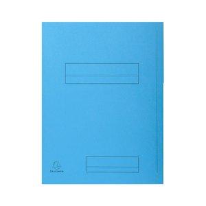 Comprar Pack de 50 subcarpetas impresa de cartulina 2 solapas SUPER 250 210g azul claro