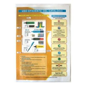 Comprar Caja de 100 dossiers uñeros polipropileno basic cristal 100-110 micras folio