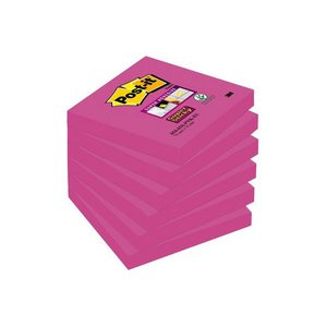 Comprar Pack 6 blocs 76x76 mm Notas Post-it® Super Sticky  fucsia