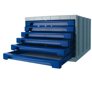 Comprar Módulo 6 cajones pequeños Archivotec 6006p gris/azul