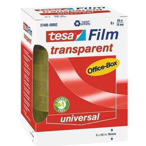 Comprar Pack 8 rollos cinta adhesiva tesafilm® Transparent Officebox 66m x 19mm, 8 unidades