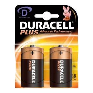 Comprar Blister 2 pilas duracell alcalina plus D