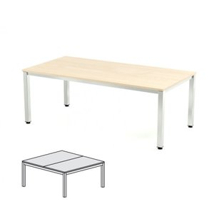 Comprar Mesa reunión 160x163x72-77cm. aluminio/haya