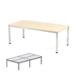 Comprar Mesa reunión 360x163x72-77cm. aluminio/gris