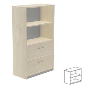 Comprar Armario librería 1 estante 90x78x45cm. aluminio/gris