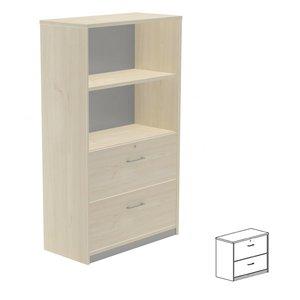 Comprar Armario carpetero  2 cajones archivo 90x78x45cm. aluminio/gris