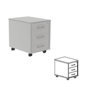 Comprar Buck móvil 3 cajones 40x58x59,5cm. aluminio/haya
