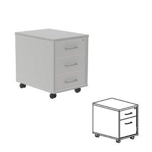 Comprar Buck móvil 1 cajón + 1 cajón archivo 40x58x59,5 cm  aluminio/gris