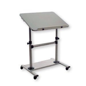 Comprar Mesa ergonómica móvil de estructura metálica regulable 80x60x73-110cm Gris