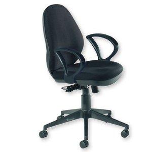 Comprar Silla de oficina Allison mecanismo sincro con brazos tapizado 1 negro