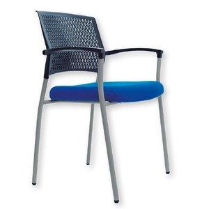 Comprar Silla confidente Clapton con respaldo en polímero técnico y asiento tapizado 1 azul