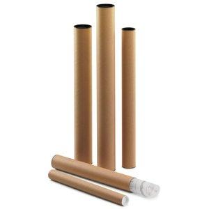Comprar Tubo cartón con tapa plástico Faibo 64x8cm