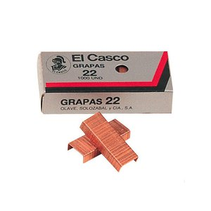 Comprar Caja 1000 grapas galvanizadas El Casco 22