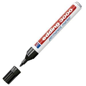 Comprar Marcador permanente punta cónica edding 3000 trazo 1,5-3mm negro