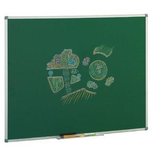 Comprar Pizarra verde mural estratificada no magnética marco aluminio 122x100cm