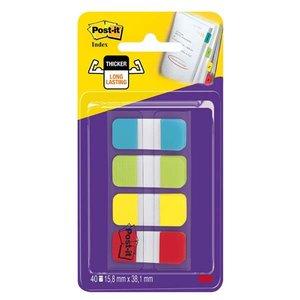 Comprar Dispensador Post-it® Index Rígido 15,8 x 38 marcadores (colores agua, lima, amarillo y rojo)