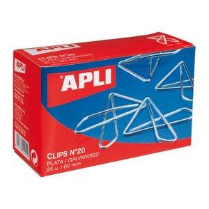 Comprar Caja 25 clips mariposa nº20 60mm