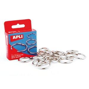 Comprar Caja 10 anillas niqueladas articuladas 46mm