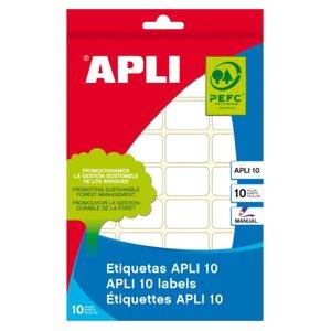 Comprar Pack 350 etiquetas Apli escritura manual cantos romos 12x30mm