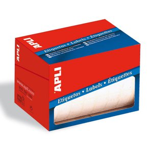 Comprar Rollo 1600 etiquetas Apli escritura manual cantos romos 25x40mm