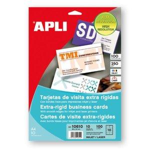 Comprar Pack 100 tarjetas visita Apli bordes lisos extra rígido 250gr 89x51mm