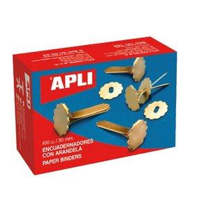 Comprar Caja 100 encuadernadores con arandela PP 18mm