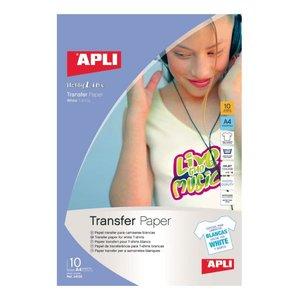 Comprar Pack 10h papel transfer Apli para telas blancas A4 blanco