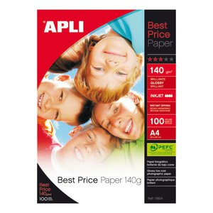 Comprar Pack 100h papel fotografico Best Price 140gr A4 glossy