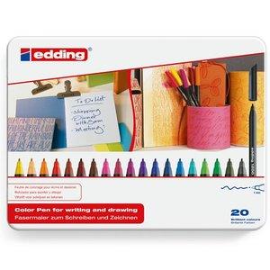 Comprar Caja metálica 20 rotuladores edding 1200  colores surtidos
