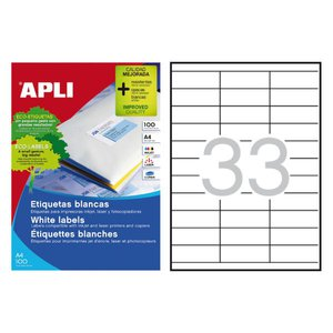 Comprar Caja 3300 etiquetas Apli cantos rectos 70X25,4mm