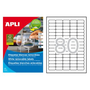 Comprar Caja 2000 etiquetas Apli removibles cantos romos 35,6x16,9mm