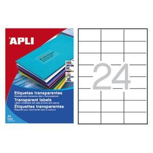 Comprar Pack 480 etiquetas Apli cantos rectos 70X37mm transparente