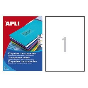 Comprar Pack 20 etiquetas Apli cantos rectos A4 transparente