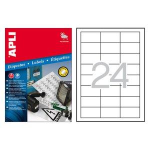 Comprar Pack 480 etiquetas Apli exterior cantos rectos 64,6x33,8mm