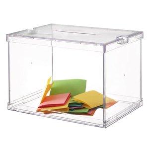 Comprar Urna electoral modelo oficina plegable color cristal transparente