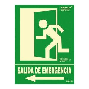 Comprar Señal normalizada salida de emergencia izquierda 30x22,4cm