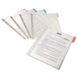 Comprar Caja 5 Fundas Durable clasificadores a4 transparente marco amarillo