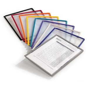 Comprar Caja 5 fundas Durable clasificadores Sherpa a4 transparentes marco amarillo
