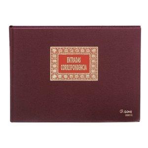 Comprar Libro entrada correspondencia Dohe forrado tela 100h folio apaisado