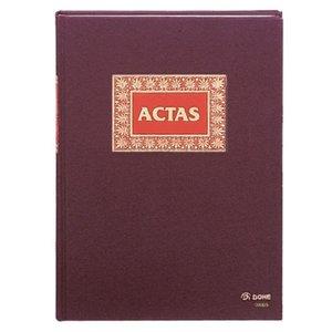 Comprar Libro actas Dohe forrado tela 100h numeradas folio