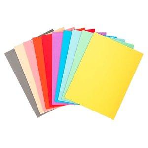 Comprar Pack de 100 subcarpetas de cartulina FOREVER 220 220g 10 colores surtidos