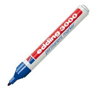 Comprar Marcador permanente punta cónica edding 3000 trazo 1,5-3mm azul