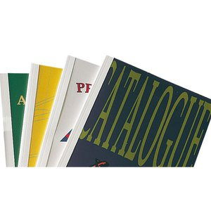 Comprar Caja 100 carpetas encuadernación térmica Ibileather a4 1,5mm para 15h azul