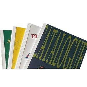 Comprar Caja 100 carpetas encuadernación térmica Ibileather a4 6mm para 60 azul