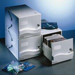 Comprar Archivador Leitz 25 CD con caja drawer 19,1x16,5x30,7cm gris