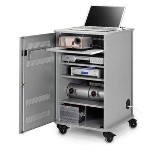Comprar Mueble multimedia  4 baldas con ruedas 95x57x60cm