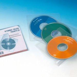 Comprar Bolsa 10 Fundas pp con solapa CD 1/8 pp sin Taladros