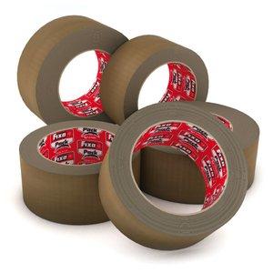 Comprar Pack 6 rollos precinto PP acrílico bajo ruido 48mmx66m habana
