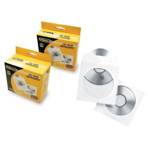 Comprar Pack 50 sobres CD Fellowes papel  blanco